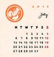 july 2015 zodiac vector image vector image