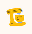 kitchenware stand mixer electronic food and cake vector image