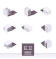Korean alphabet in isometric style drawn