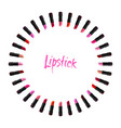 lipstick border on white background beauty vector image