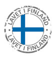 made in finland flag grunge icon vector image vector image