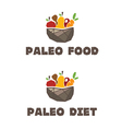 menu paleo diet vector image