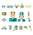 Optical icons Ophthalmology Icons Set vector image vector image
