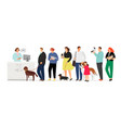 people in veterinary clinic vector image vector image