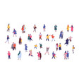 people in winter outwear walking flat vector image vector image