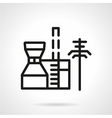 Petrochemical plant black line icon vector image vector image