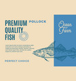 premium quality pollock abstract food vector image