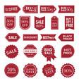 price sales tag set vector image vector image
