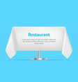 realistic detailed 3d blank restaurant table vector image vector image