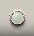 realistic glass white combination safe lock volume vector image vector image