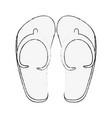 sandals flip flops vector image vector image