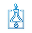 school laboratory test tube flame burning vector image vector image