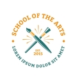 School of the arts vector image
