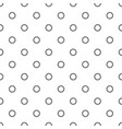 seamless monochrome circle pattern vector image vector image