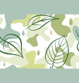 seamless pattern with organic shape blots vector image vector image