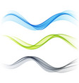 set color abstract wave design element vector image vector image