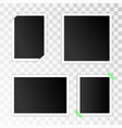 set empty photo frames with adhesive tape vector image vector image