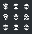 set of military forces icons vector image