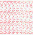 simple lace fabric seamless white pattern on pink vector image vector image