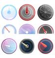speedometer icon set cartoon style vector image vector image