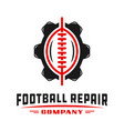 sports football gear logo design vector image