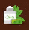 stevia natural sweetener packet product vector image vector image