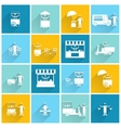 Street food icon flat white vector image vector image