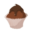 Sweet food chocolate creamy cupcake vector image vector image