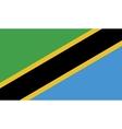 Tanzania flag image vector image vector image