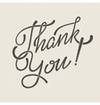 Thank You Hand lettering handmade soft vector image vector image