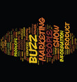 the power of buzz text background word cloud vector image vector image