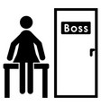 the woman at the bosss door vector image