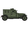 Vintage armoured vehicle vector image vector image