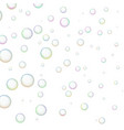 wallpaper with shiny soap bubbles vector image vector image