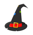 witch hat cartoon symbol icon design beautiful vector image