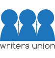 writers union negative space concept design vector image vector image