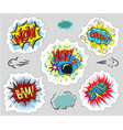 collection of comic text pop art style vector image