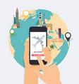 Online booking ticked Buy Ticket Online Traveling vector image
