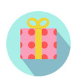 pink gift boxes with red circle pattern vector image
