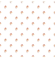 Seamless hand drawn cake background wallpaper vector image