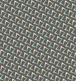 1950s Arrow Pattern Background vector image vector image