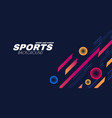 abstract sport background with moving geometric vector image