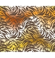 Abstract tiger skin vector image