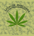 banner of marijuana legalization vector image