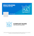 blue business logo template for interface website vector image vector image