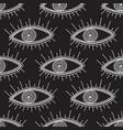 boho style eyes seamless pattern black vector image vector image