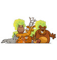 cartoon forest animals group design vector image vector image