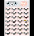 Cat emoji icons 3 vector image vector image