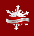 Christmas greeting card with origami snowflake vector image