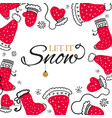 christmas postcard with design elements in doodle vector image vector image